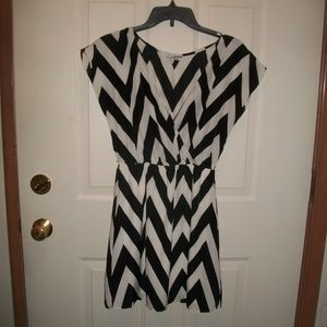 Charlotte Russe chevron stripe dress size S
